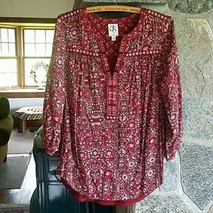 Anthropologie one September peasant blouse